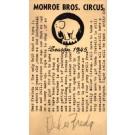Elephant Monroe Brothers Circus Postal