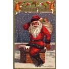Santa Claus Leaving Chimney