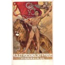 VI Sokol Meeting 1912 Strongman Lion