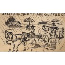 Military in Horse-Drawn Cart Hand-Drawn