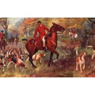 Dogs Fox Hounds Hunters on Horses Christmas Tuck