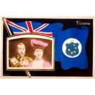 British King George V Queen Elizabeth Flag RP