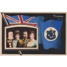 British Royal Couples Flag Real Photo