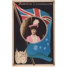 British Queen Elizabeth Flag Coat of Arms RP