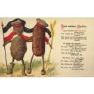 Potato Bread Dressed in Military German Hats Poem