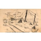 NJ Beach Haven Fishing Boats Hand-Drawn