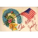 4th of July Flag Flower Roses Patriotic