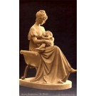 Statue of Nursing Mother with Baby Real Photo