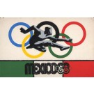 Mexico 1968 Olympics Flet Athlet Rings