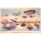 Hudson-Fulton Celebration Biplanes Dirigible