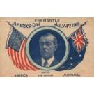 President Wilson WWI Australian American Flags