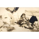 Alaska Eskimo Mother Nursing Baby Tent Real Photo