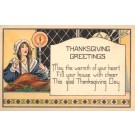 Maid Holding Candle Turkey on Plate