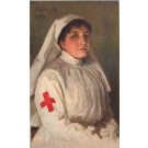 Red Cross Nurse at Rest WWI