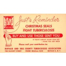 Advert Christmas Seals Angels on Stamp Postal