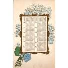 Bouquet of Flowers Calendar 1909