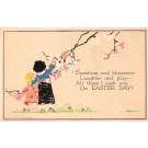 Volland #5609 Children Reaching Blooming Branch
