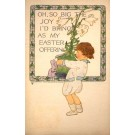 Volland #1558 Child Holding Pot with Flower Lily