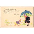 Child Meeting Dressed Duck Rain Poem Volland #5610