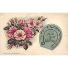 Flower Roses Horseshoe Silk
