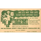 Anti-Tuberculosis Advert Christmas Stamps