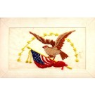 Eagle over Flag Embroidered Silk