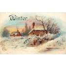 Winter Season Houses in Snow