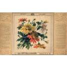 Flowers Chrysanthemum Printed Fab Silk