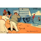 Gentleman Admiring Bathing Beauties Browne Comic