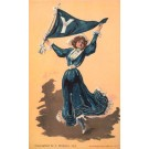 Yale College Girl with Banner