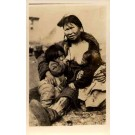 Alaska Eskimo Mother Nursing Two Babies Real Photo