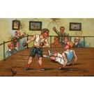 Knocked Down Boxer