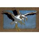 Storks Landing Woodblock