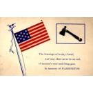 President Washington Patriotic Poem Novelty