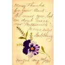 Embroidered Silk Flower Pansy