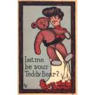 Lady Holding Huge Teddy Bear