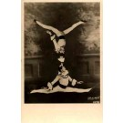 Acrobat Standing Upside Down Real Photo