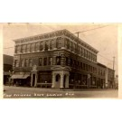 First National Bank Michigan Real Photo