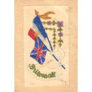 Embroidered Silk British French Flags