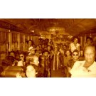 Cubans in Train Political Campaign Real Photo