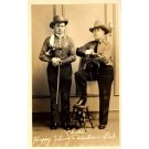 Country Western Musicians Real Photo