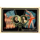 British King Edward VII Pres. Roosevelt Flags