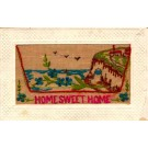 Birds in Sky Cliff Embroidered Silk