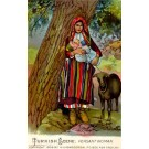 Turkish Peasant Mother Holding Baby Sheep