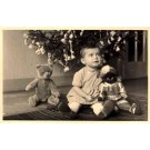 Confused Teddy Bear Looking at Girl Golliwog RP