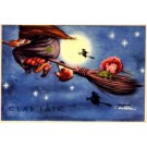 Witches in Sky Hidden Gnome in Broom Easter