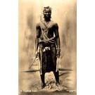 Black African Zulu Warrior Real Photo