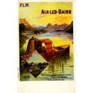 France Aix-Les-Bains Girls Boat Lake Mountain