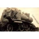 Broken Down Railroad Steam Engine Real Photo
