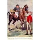 Jockey Looking at Horse Political Satire